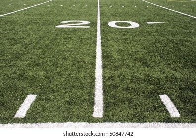 american football field 20 yard line