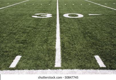 american football field 30 yard line
