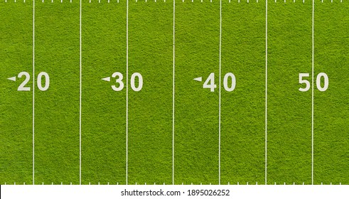 An American football field from above - texture background