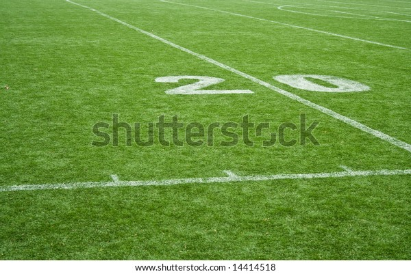 American Football Field Grass 20 Yards Stock Photo Edit Now 14414518