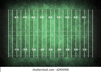 american football field pattern on the dark green grunge