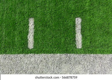 American football field with yard lines