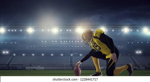 American football game. Mixed media