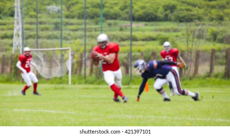 American football game - out of focus background of the field