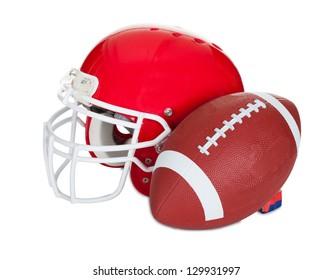 American football helmet. Isolated on white background