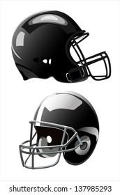 American football helmet isolated on white