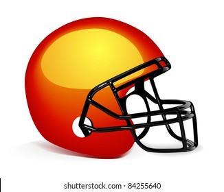 American football helmet on white