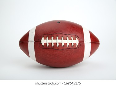 American Football Isolated on White Background, no logos