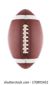 American Football isolated on white.