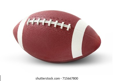 American football isolated on a white background.