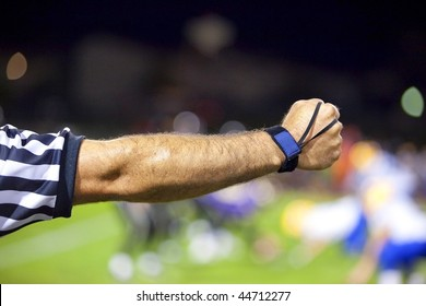 American Football Official or Referee Arm Signal