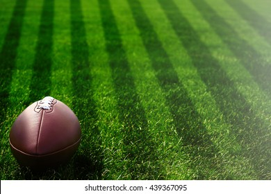 American football on field near yard lines