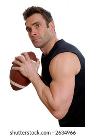 american football player man in a black top