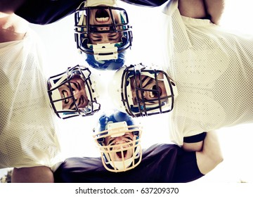American Football Players Posing