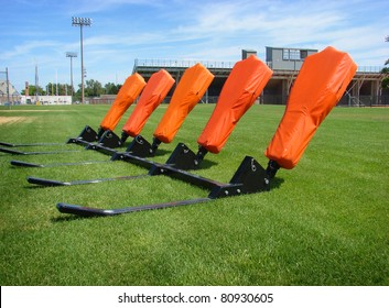 American football practice blocking sled