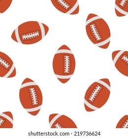 American football Seamless pattern. illustration