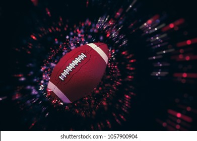 American football, sparkle illustration