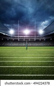 american football stadium 3d rendering