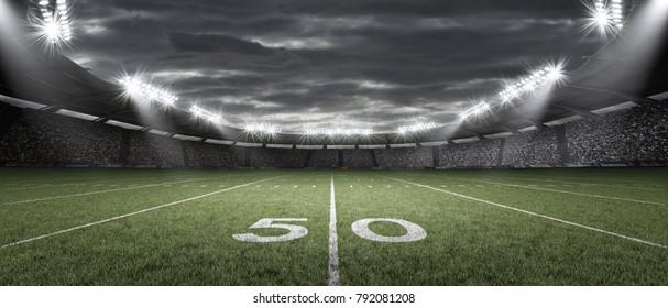 The American football stadium, 3d rendering