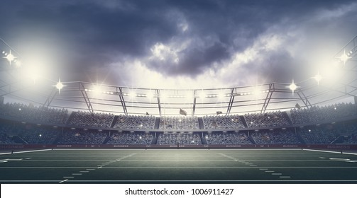 American football stadium,3d rendering