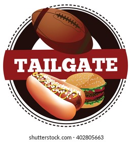 American football tailgate party icon.