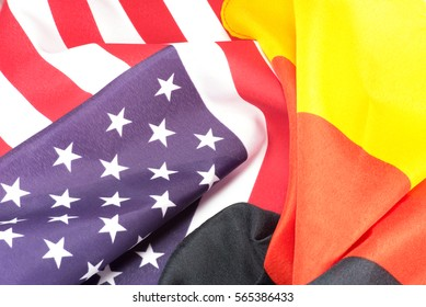 American and German national flags