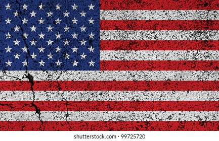 American grunge flag background