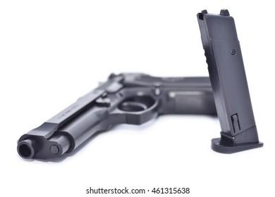 American gun replica isolated on white
