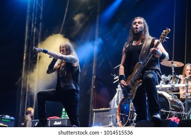 American heavy power metal band Iced Earth at Metaldays Festival on July 24th, 2017 in Tolmin, Slovenia