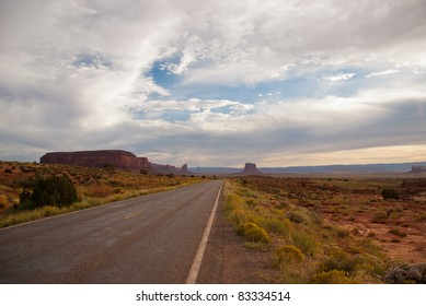 American Highway in Arizona near Monument Valley