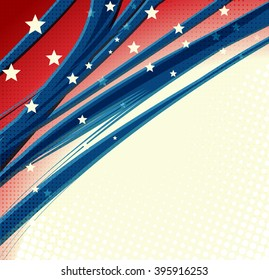 American Independence Day Patriotic background. illustration