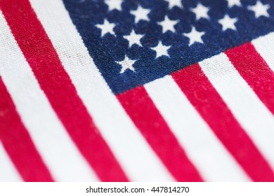 american independence day, patriotism and nationalism concept - close up of american flag