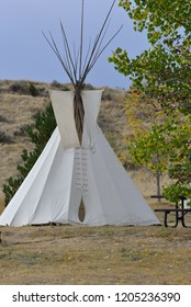 American Indian teepee at campground