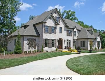 american luxury brick house