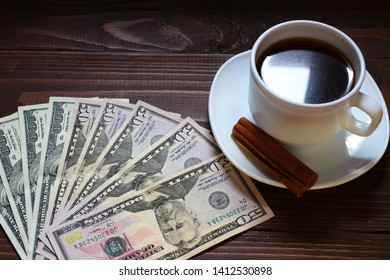 American money is a dollar and a cup of coffee