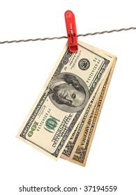 American money over white