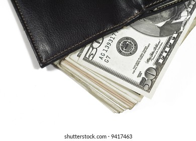 american money and purse