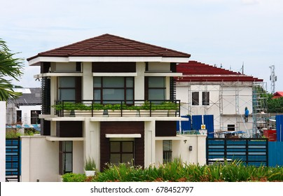 American motif modern design house- in Alabang, Philippines.
