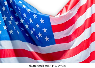 American national flag isolated over white background
