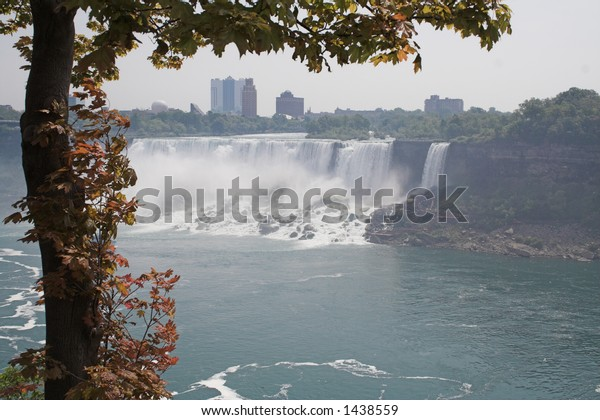 American Niagara Fall viewed from Canada side of the border.