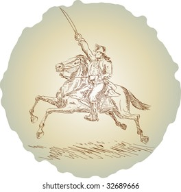 American officer riding a horse during the American revolution