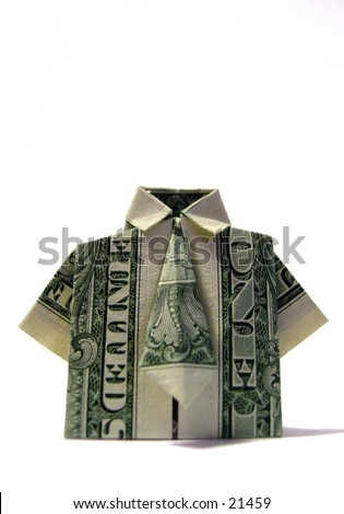 American One Dollar Bill Folded Origami Stock Photo Edit Now 21459