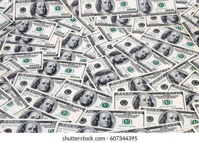American paper dollar bills as part of the global financial and trading system