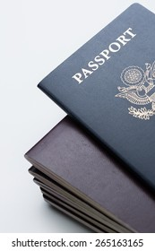 American Passport on Top of other Passports