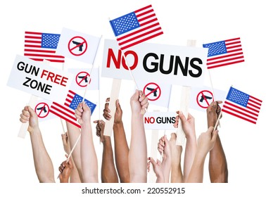 American people campaigning for gun control