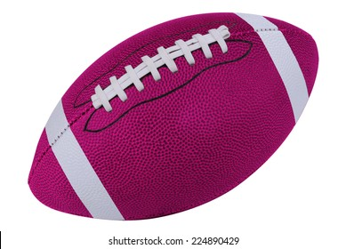 American Pink football isolated over a white background with a clipping path