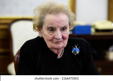 American politician and diplomat Madeleine Albright during a visit to Kyiv, Ukraine. 16-06-2017