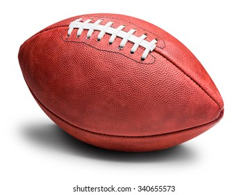 American professional football with shadow isolated on white background
