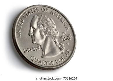 American quarter dollar coin