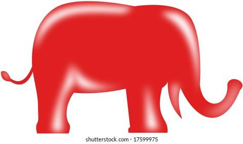 American Republican party election elephant mascot - JPG